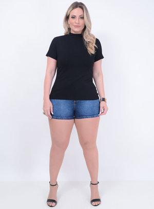 T-shirt Gola Alta Preta Plus Size