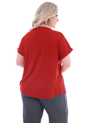 T-Shirt Plus Size Red