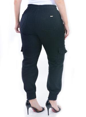 Calça Plus Size Jogger Preta