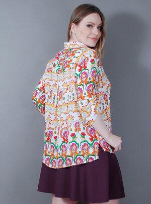 Camisa em Viscose Soltinha Mullet Tudo de Bom