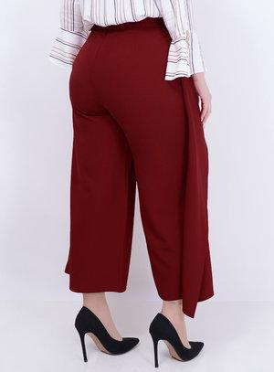 Calça Pantacourt Transpasse Vermelha Plus Size