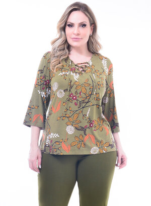 Blusa Plus Size Strappy