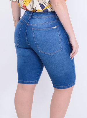 Bermuda Jeans Ciclista Plus Size