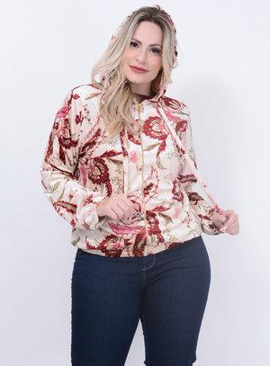 Jaqueta Bomber Veludo Plus Size