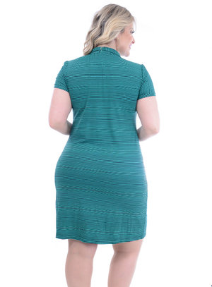 Vestido Melinde Gola Polo Plus Size
