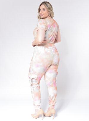 Conjunto Feminino Plus Size Tie Dye