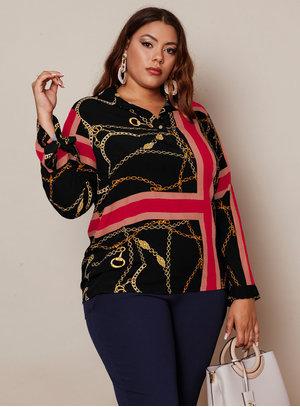 Camisa Mix Amarração Plus Size