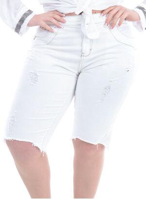 Bermuda Jeans Plus Size Charmosa