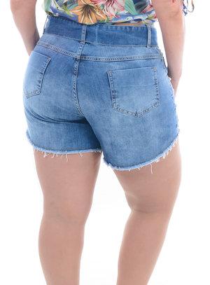 Shorts Jeans Plus Size Delicado
