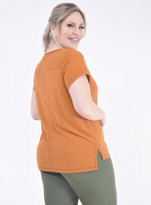 Blusa Plus Size Canelada