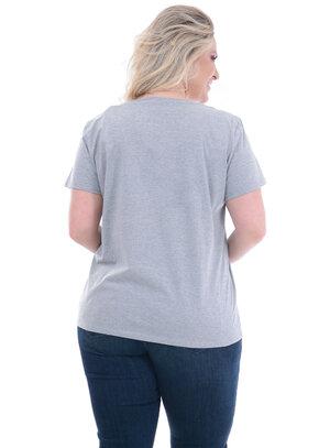 T-Shirt Plus Size Levi's Cinza Faixa