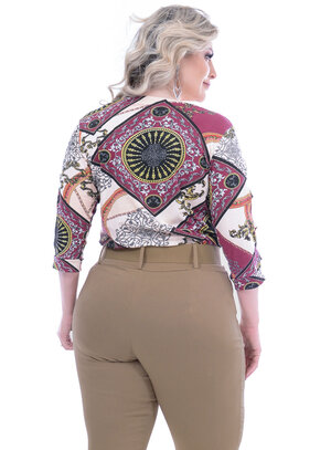 Blusa Stillo Kasual Mix Estampa Plus Size
