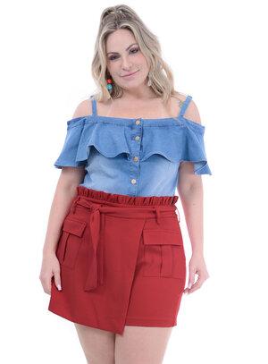 Blusa Jeans Plus Size Márcia