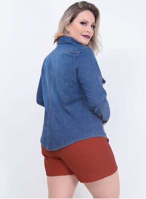 Camisa True E- Motion Jeans Plus Size