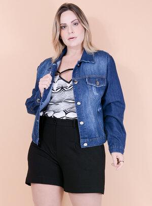 Jaqueta Jeans Destroyed