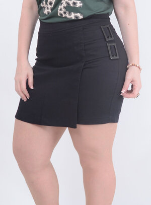 Short Saia Ekori Fivela Plus Size