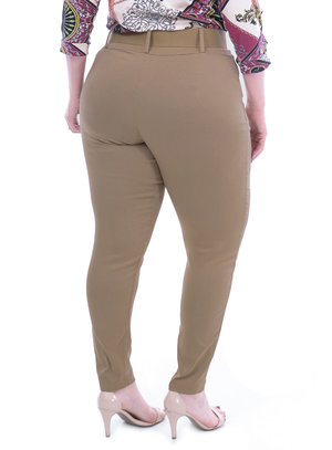 Calça Plus For You Cinto Plus Size