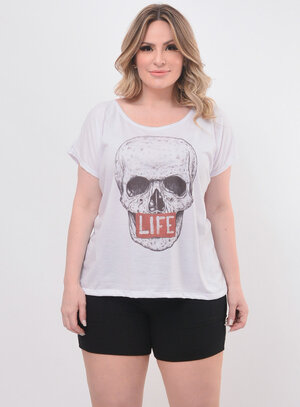 T-Shirt Plus Size Caveira