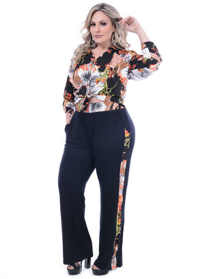 Conjunto A Duqueza Mix Estampa Plus Size