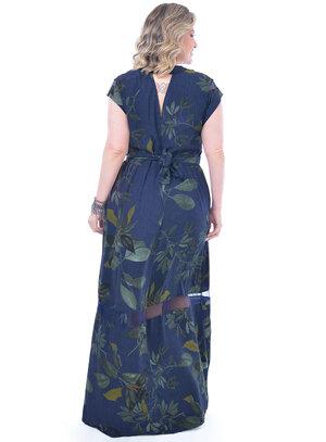 Vestido Plus Size Folhagens