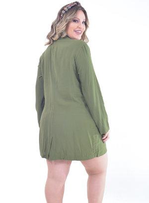 Sobretudo Plus Size Verde