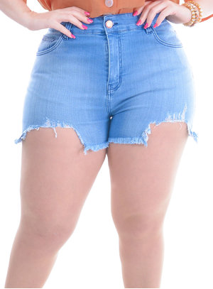 Shorts Plus Size Prato
