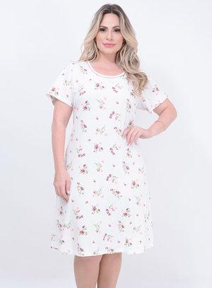 Camisola Camisetão Floral Plus Size
