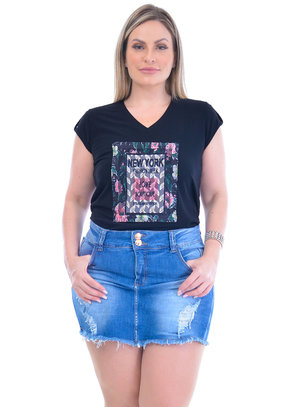 Blusa Plus Size Caliteia