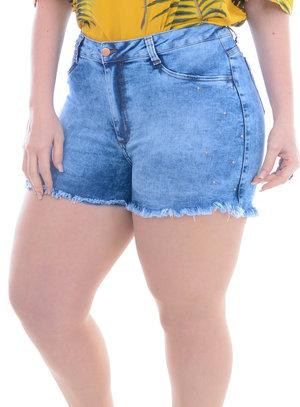Shorts Jeans Plus Size Cintia