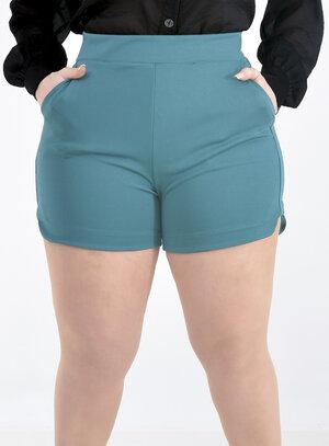 Short Plus Size com Bolsos