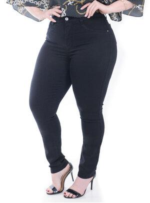 Calça Jeans Cambos Preta Plus Size