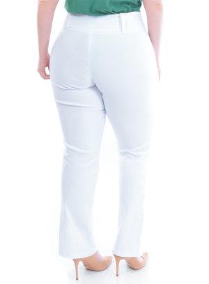 Calça Plus Size Branca