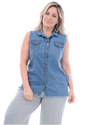 Colete Jeans Plus Size Banana