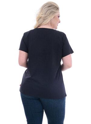T-Shirt Plus Size Levi's Preta