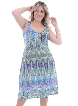 Vestido Plus Size Fivela