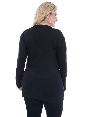 Cardigan Plus Size Preto