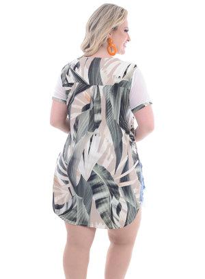 Camisa Plus Size Floresta