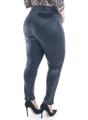 Legging Cirrê Preta Plus Size