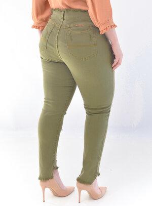 Calça Jeans Plus Size Verde
