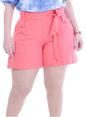 Shorts Plus Size Tropical