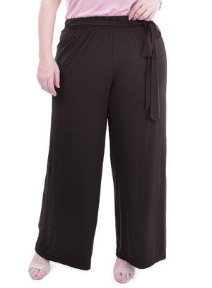 Pantalona Melinde Marrom Plus Size