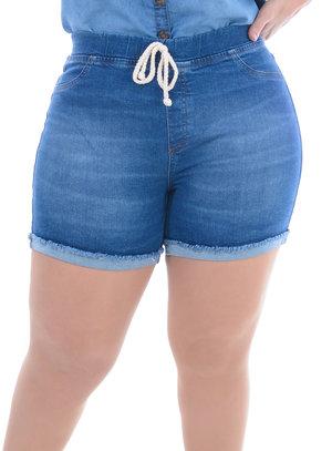 Shorts Jeans Plus Size Limão