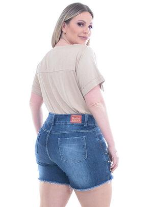 Blusa Lenner Bolsos Bege Plus Size