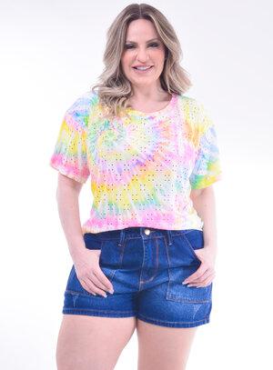T-Shirt Plus Size Tie Dye
