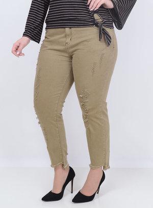 Calça Jeans Collor Verde Plus Size