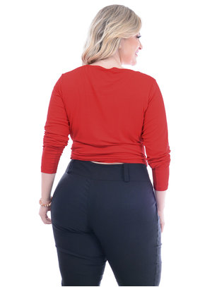 Blusa Melinde Vermelha Plus Size