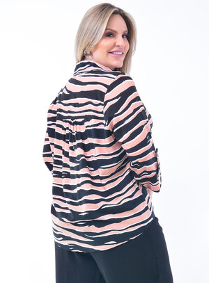 Camisa Plus Size Animal Print