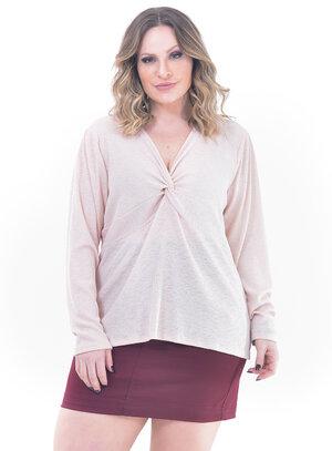 Blusa Plus Size Rosê