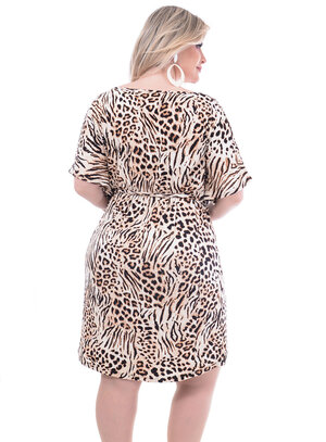 Vestido Wee Animal Print Plus Size