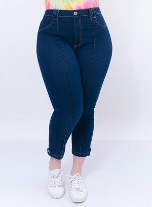 Calça Jeans Plus Size Capri
